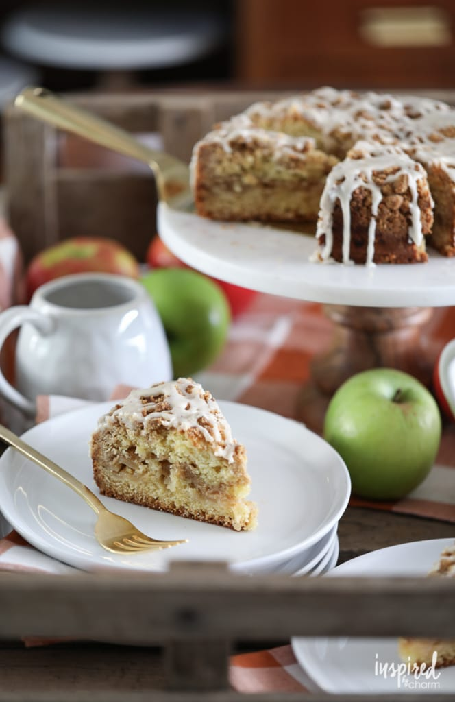 This Apple Streusel Cake is delicious fall dessert recipe. #apple #cake #streusel #baking #fallbaking #fall #recipe