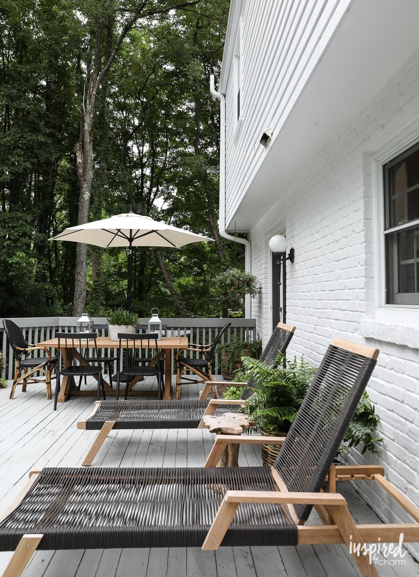 Modern Country Colonial Deck Styling Ideas And Decorating