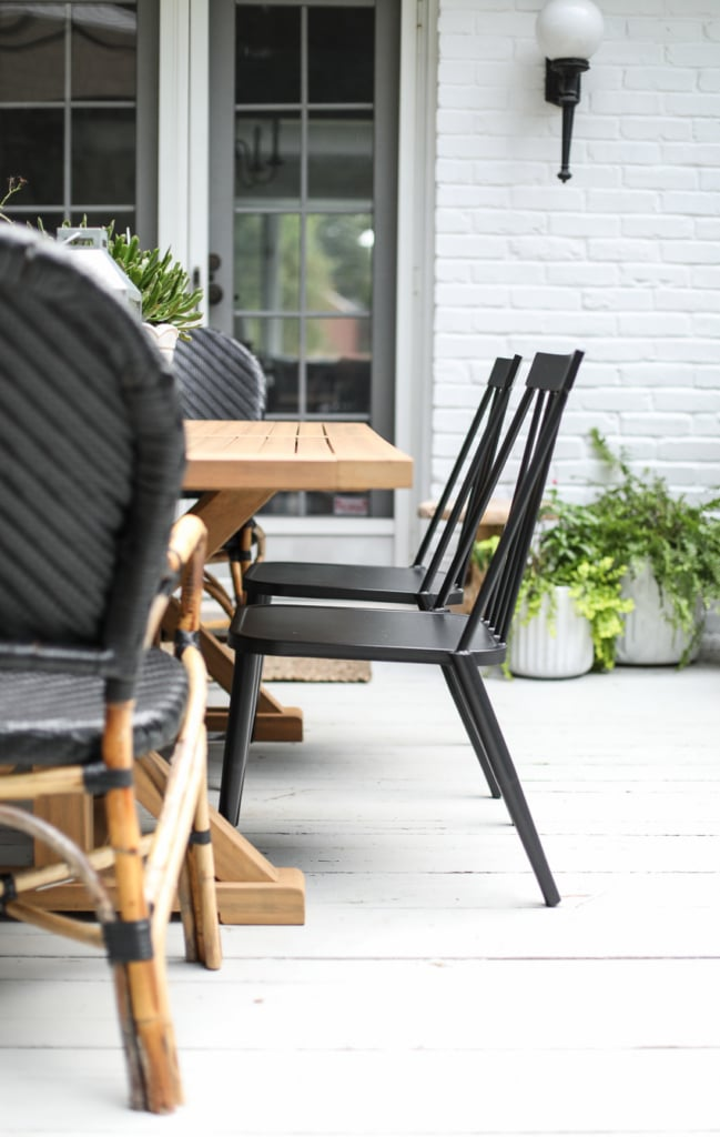 Modern Country Colonial Deck Styling tips and inspiration. #outdoor #deck #decor #styling #modern #country #colonial