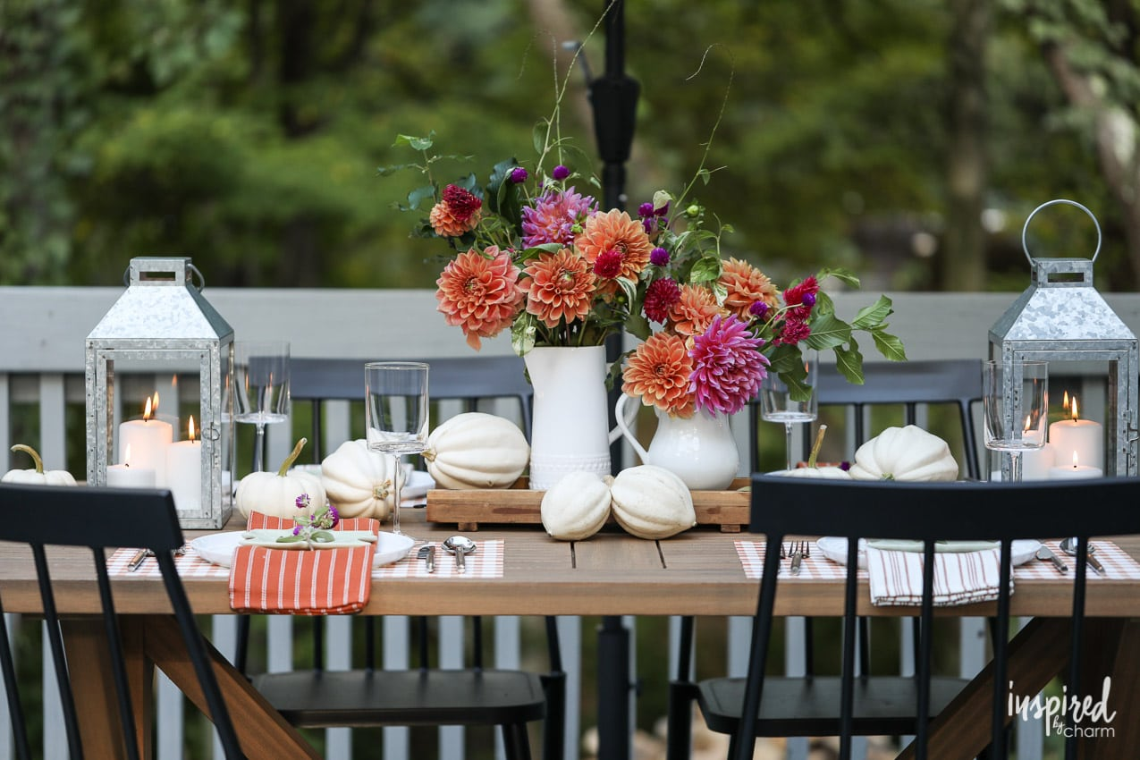 Fantastic Chic And Colorful Outdoor Fall Tablescape Styling Tips And Beutiful Home Inspiration Ommitmahrainfo