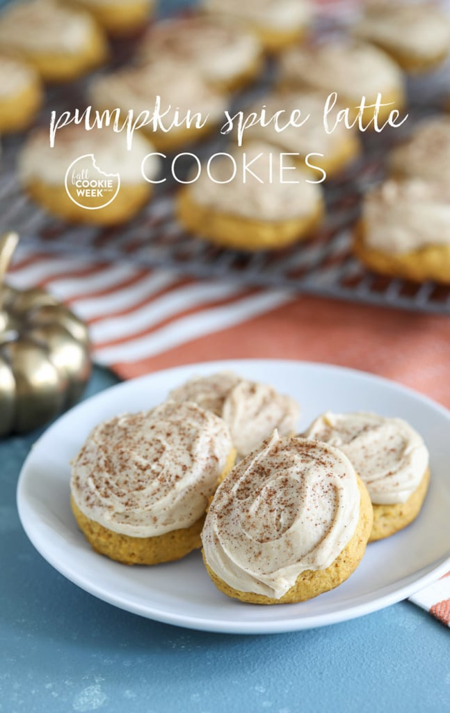 These Pumpkin Spice Latte Cookies are the perfect fall dessert recipe! #fallbaking #pumpkinspice #latte #cookie #cookies #dessert #pumpkin