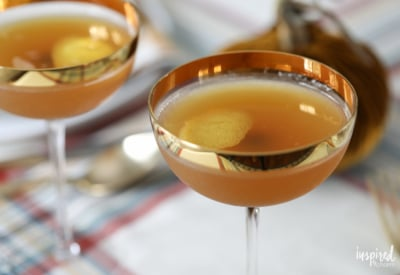 Apple Cider Sidecar - easy and delicious fall cocktail recipe. #sidecar #applecider #cocktail #fall #recipe
