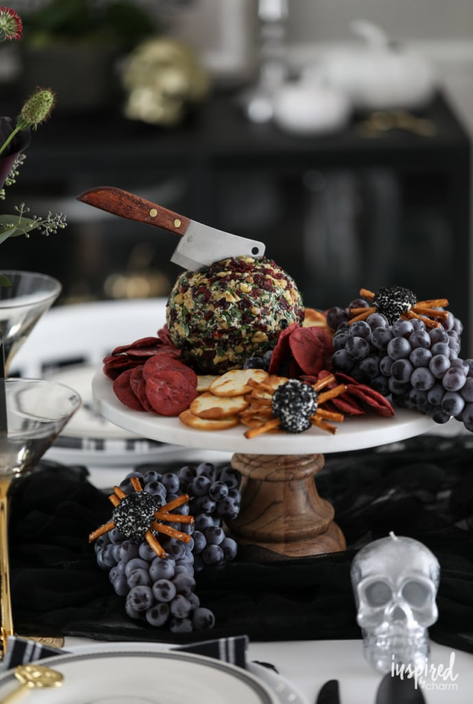 Try this Cranberry Bacon & Walnut Cheeseball for a delicious and easy Halloween appetizer recipe. #halloween #cheeseball #cranberry #bacon #appetizer #recipeTry this Cranberry Bacon & Walnut Cheeseball for a delicious and easy Halloween appetizer recipe. #halloween #cheeseball #cranberry #bacon #appetizer #recipe