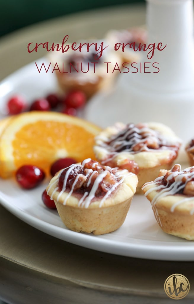 Cranberry Orange Walnut Tassies for the Holiday #christmas #cookies #cranberry #recipes #tassies #orange #walnut
