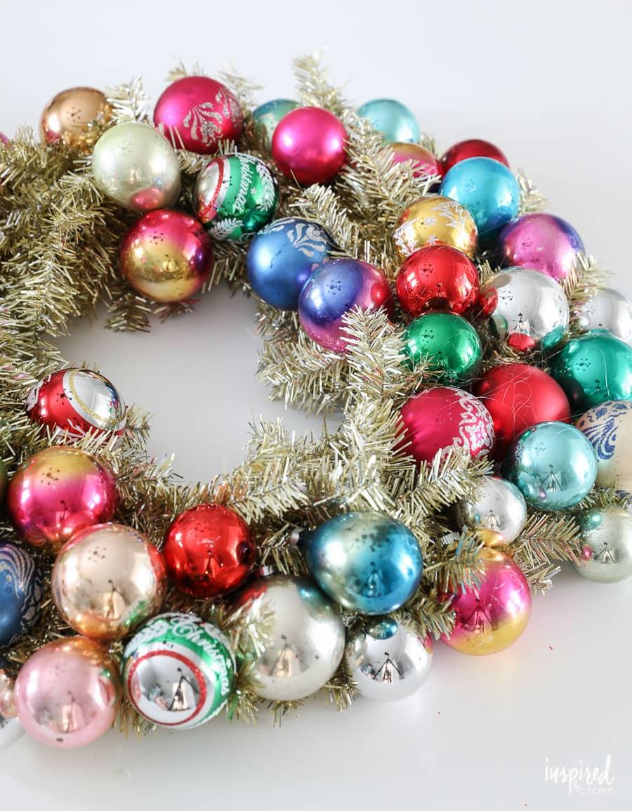 How To Make A Diy Vintage Christmas Ornament Wreath
