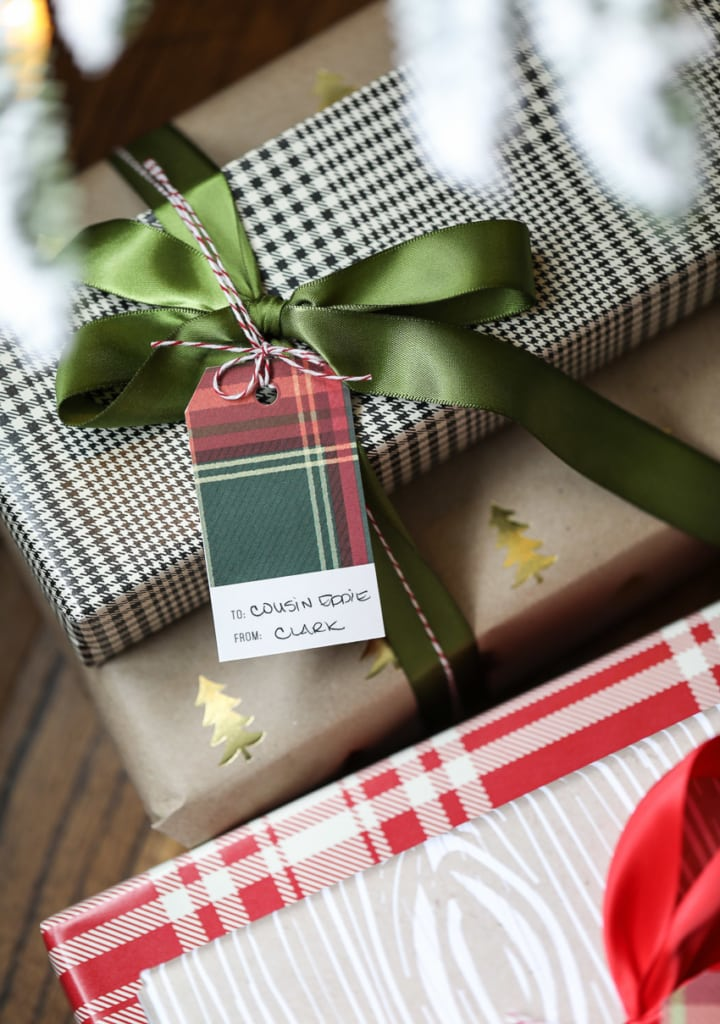These Plaid-Inspired Printable Christmas Gift Tags are the perfect finishing touch on your holiday gift wrapping! #printable #christmas #gifttags #plaid #tags #holiday #wrapping #giftwrap