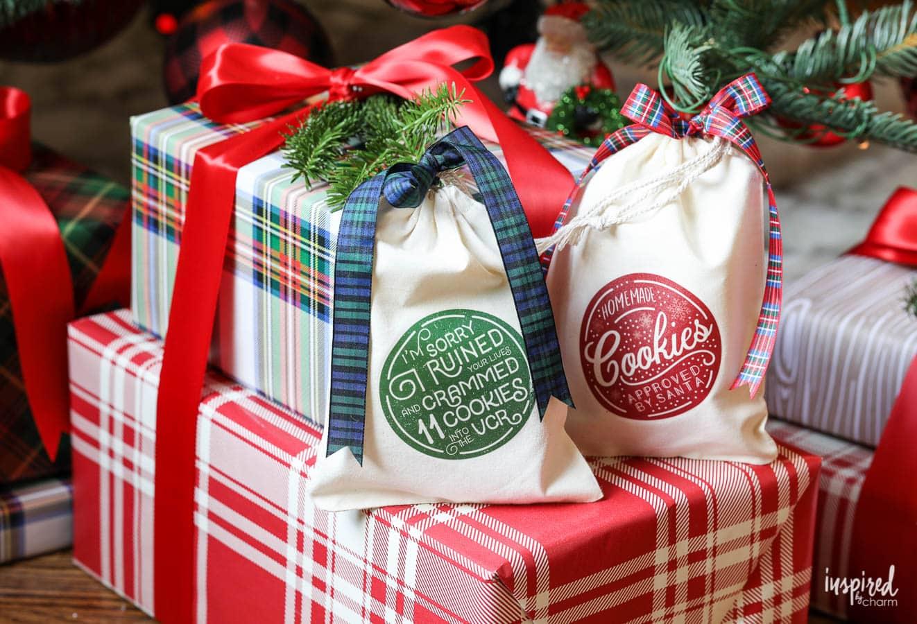 DIY Christmas Cookie Bags with Printable Download