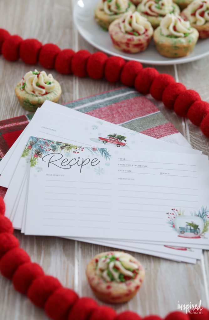Christmas Recipe Cards - Free Printable