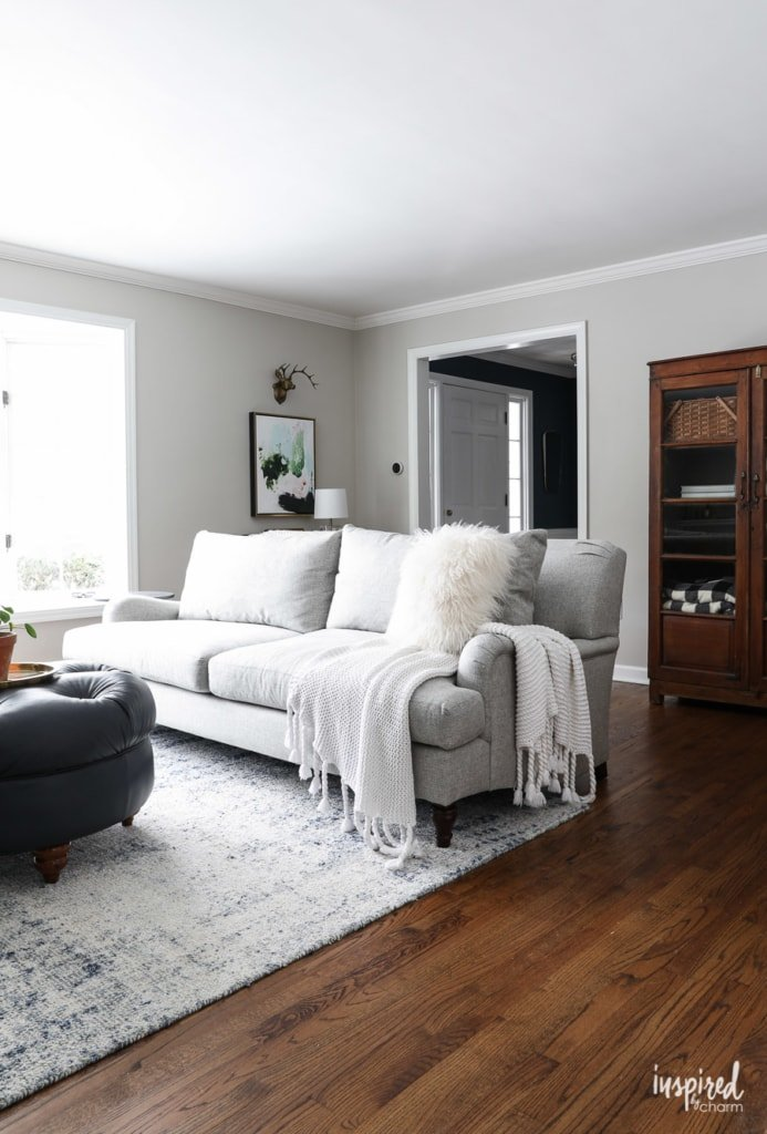 My New Living Room Sofa - Carlisle Upholstered Sofa #livingroom #sofa