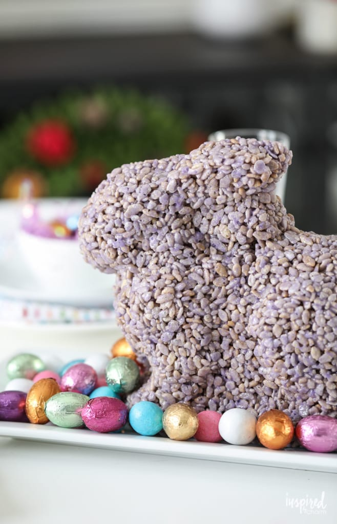 No matter when or how you serve it, this molded bunny makes a delightful and delicious treat for spring!