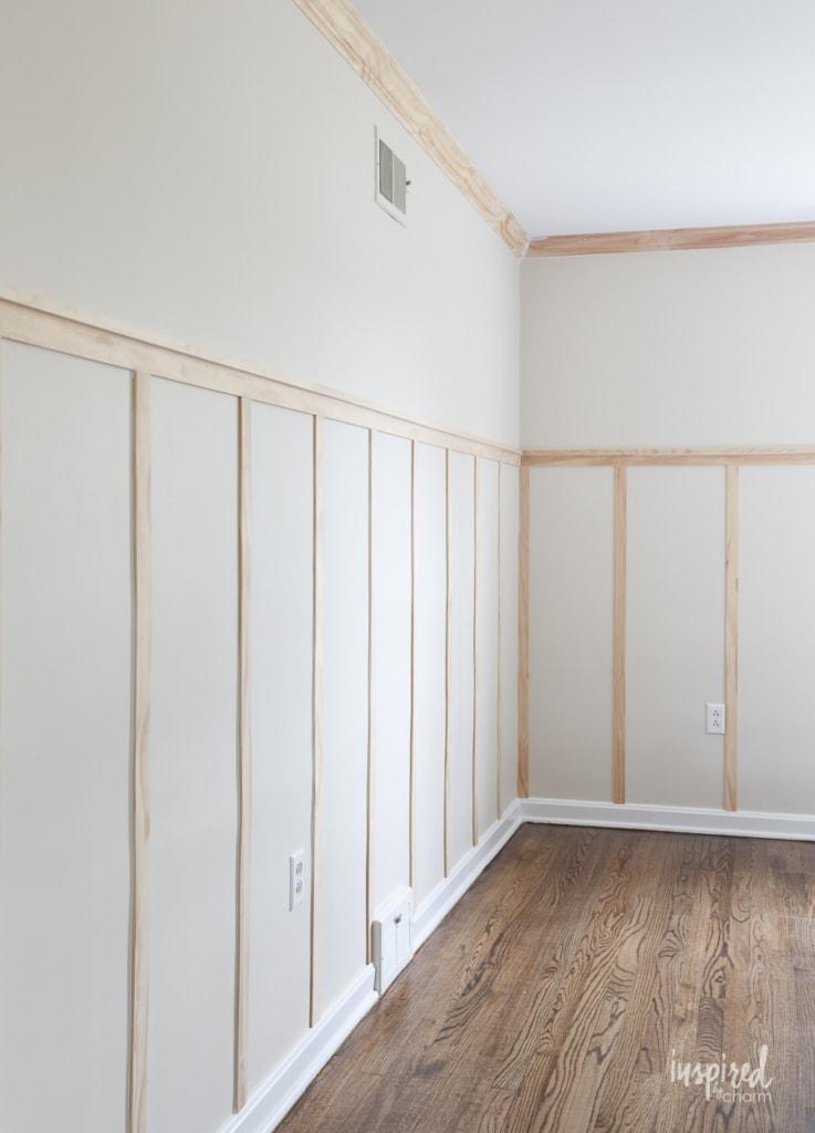 Board and Batten - Master Bedroom One Room Challenge #boardandbatten #bedroom #design #diy #trim #moulding