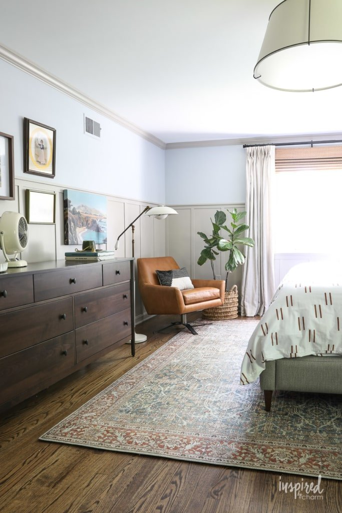 Master Bedroom Makeover Reveal #masculine #modern #country #bedroom #design #oneroomchallenge