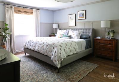 Master Bedroom Makeover Reveal #masculine #modern #country #bedroom #design #oneroomchallenge