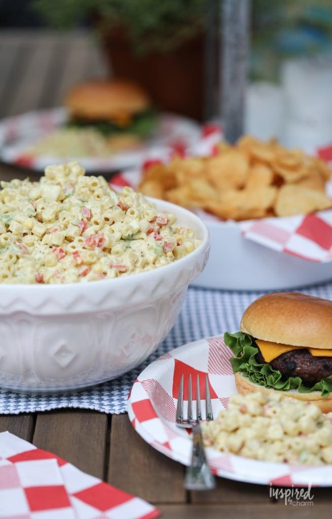 Macaroni Salad (Miracle Whip Based) Recipe #macaronisalad #summer #grilling #recipe #pasta #salad #sidedish