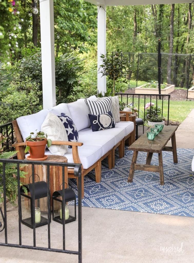 Summer Decorating: Porch and Patio Ideas #porch #patio #decorating #ideas #outdoor #decor