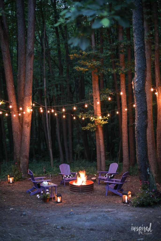 Ideas for a Color-Inspired Backyard Fire Pit Makeover #firepit #backyard #decor #style #ideas #outdoor #decorating
