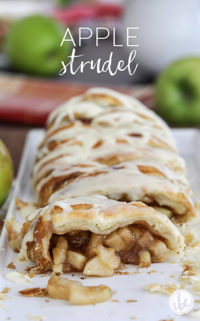 Make Apple Strudel at home with this delicious and easy recipe. #homemade #apple #strudel #fall #baking #dessert #puffpastry #recipe