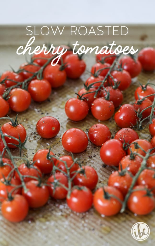 These Roasted Cherry Tomatoes are a delicious and flavor-packed appetizer. #crostini #roasted #tomato #appetizer #recipe