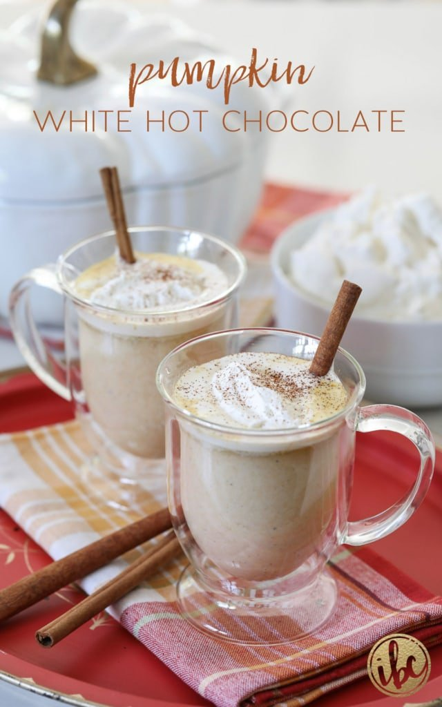 You're going to LOVE this Pumpkin White Hot Chocolate # fall #pumpkin #spice #hotchocolate #hotcocoa #whitehotchocolate