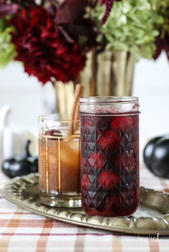 Learn how to make these homemade Bourbon Cherries. #bourbon #cherries #cocktail #garnish #recipe