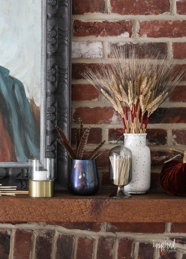 Unique ideas for Moody Fall Mantel Decor #fall #decor #mantel #decorating #ideas #vintage