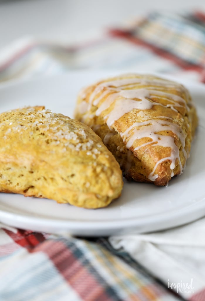 These Butternut Squash Scones are a delicious fall breakfast or fall dessert treat. #butternut #squash #scones #dessert #recipe #fallbaking