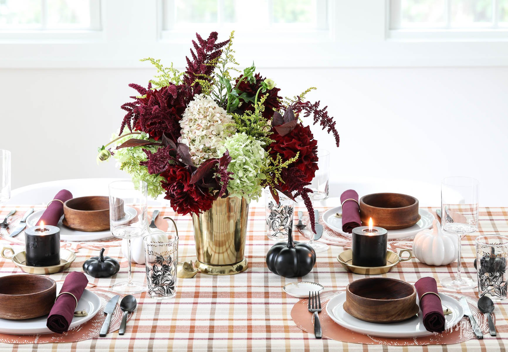 Old Meets New Colorful Fall Table Decorations Fall Dining