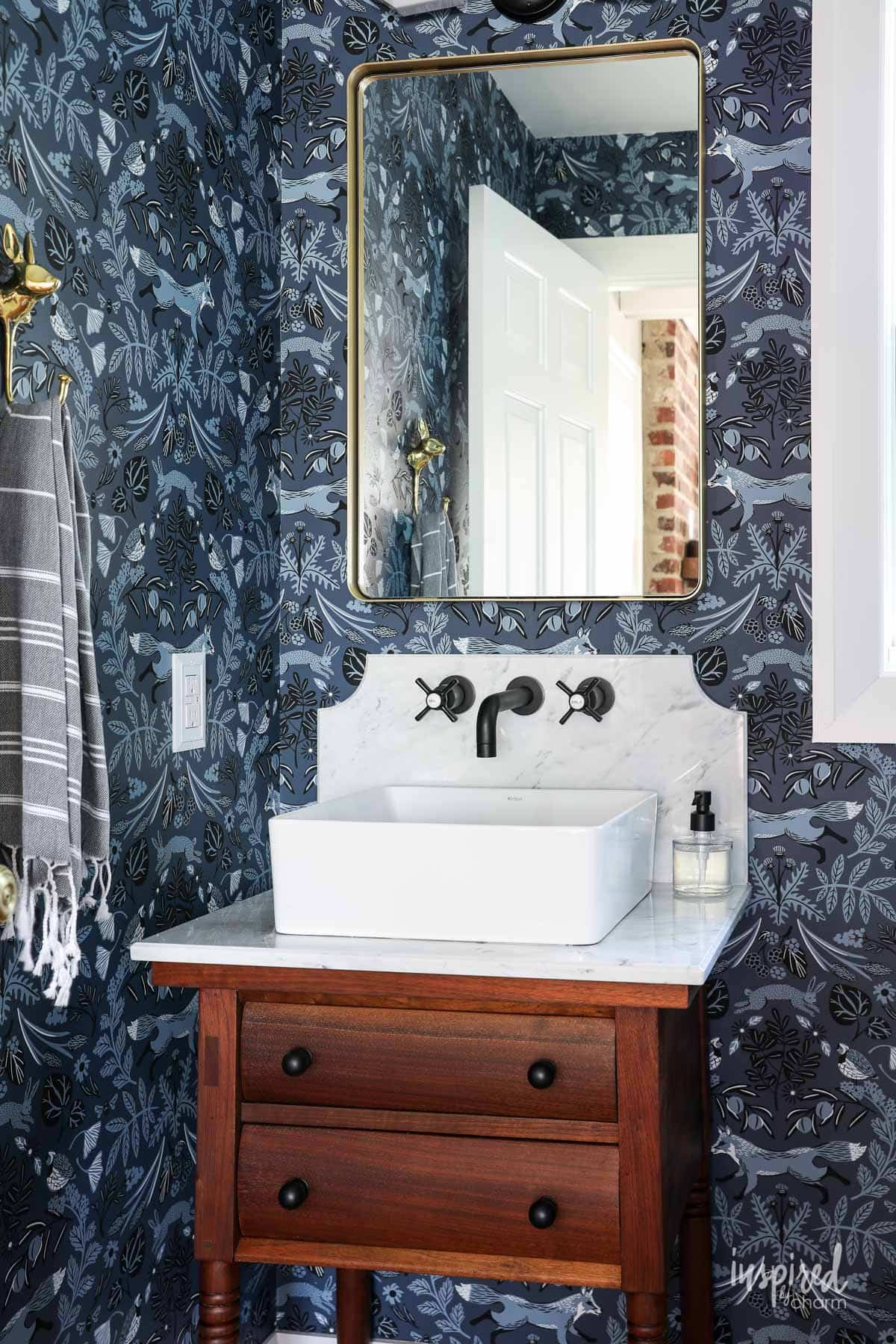 Powder Room Remodel Reveal Modern Country Powder Room