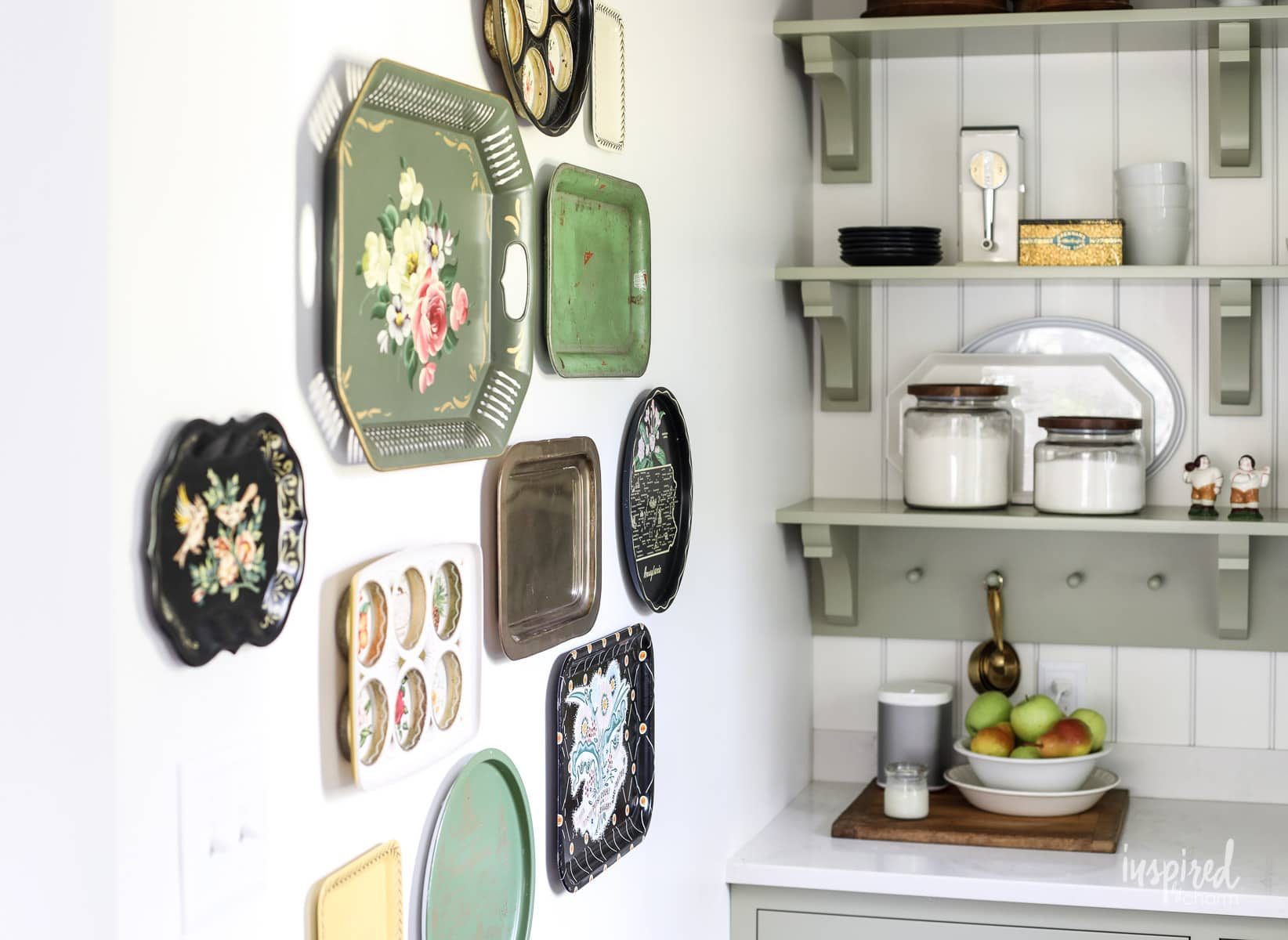 Vintage Metal Tray Gallery Wall Decor Decorating Ideas