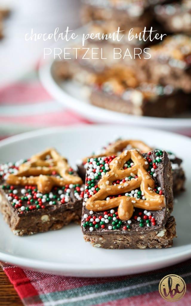 How to Make Chocolate Peanut Butter Pretzel Bars #chocolate #peanutbutter #pretzel #bars #recipe #holiday #holiday #christmas