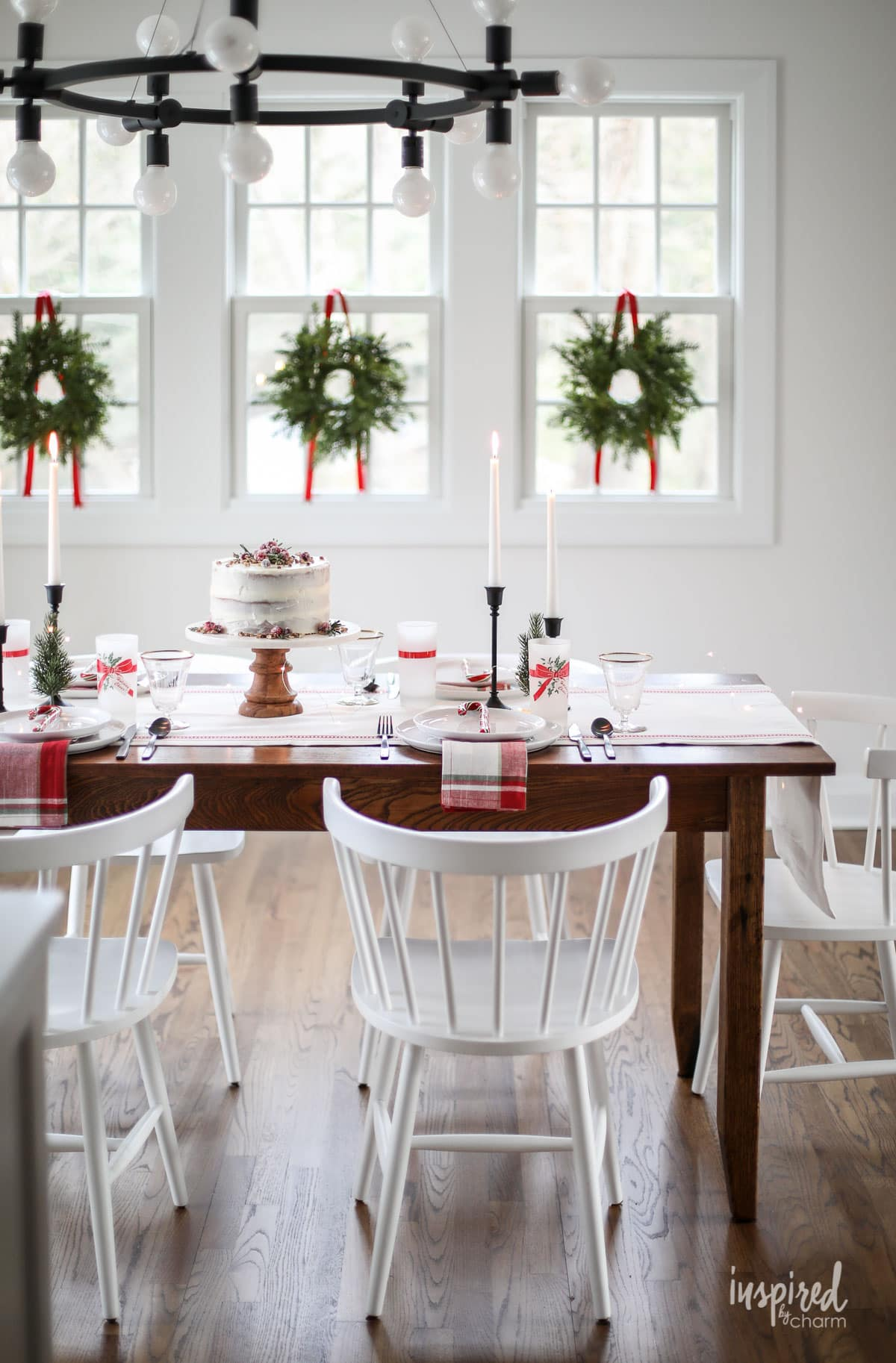 Vintage Modern Christmas Table Decor