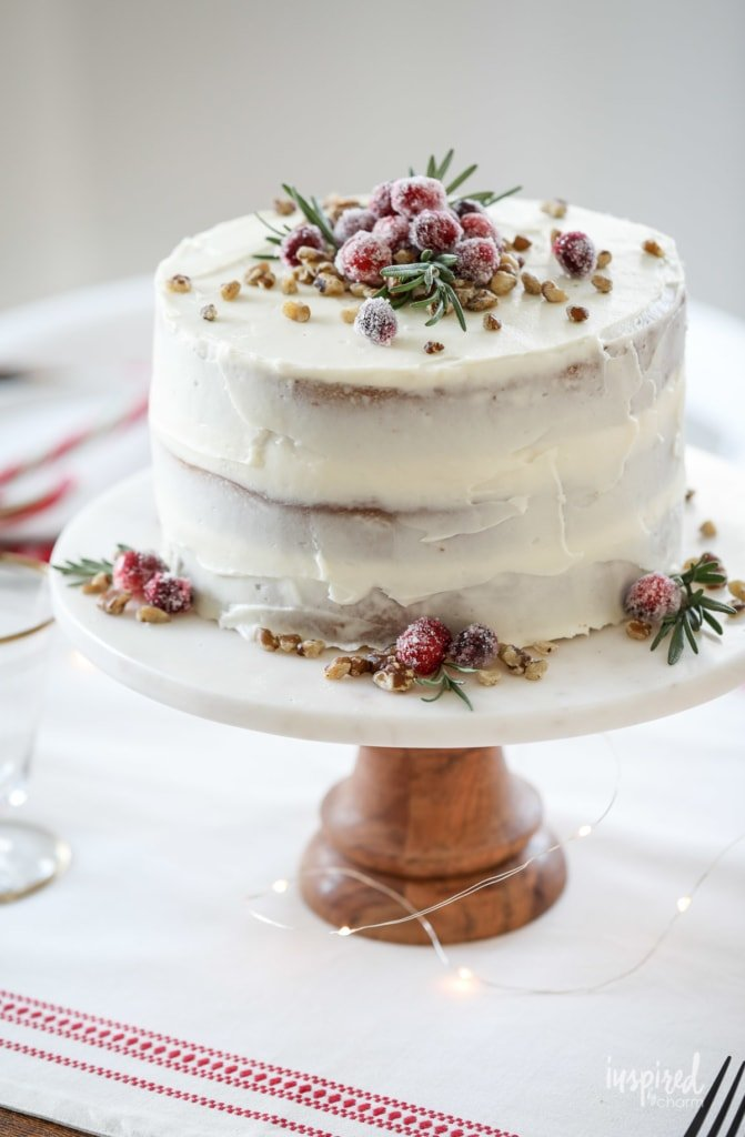 This Black Walnut Cake is a delicious Christmas Cake perfect for the holiday season! #blackwalnut #cake #recipe #christmas #christmascake #cake #dessert #recipe