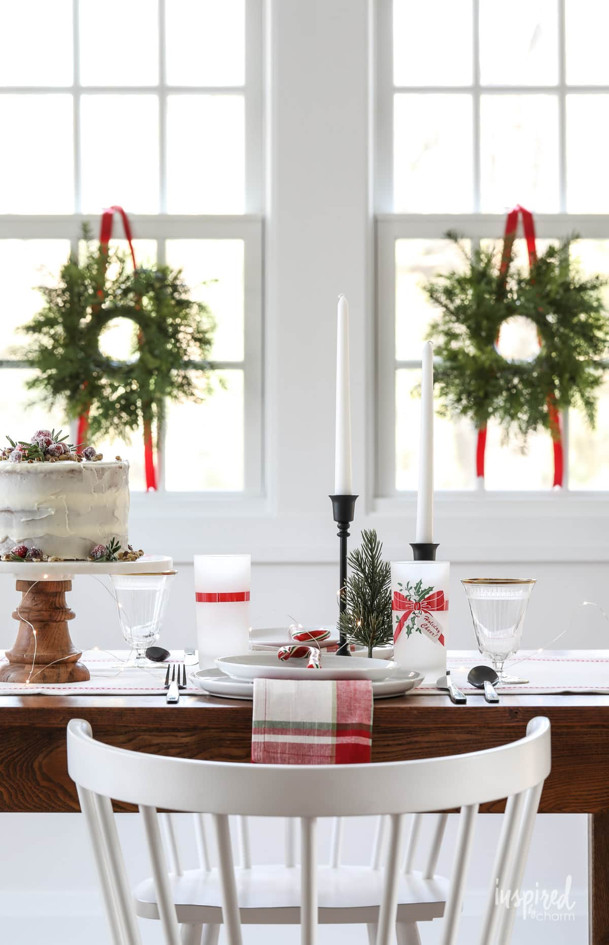Vintage Modern Christmas Table Decor