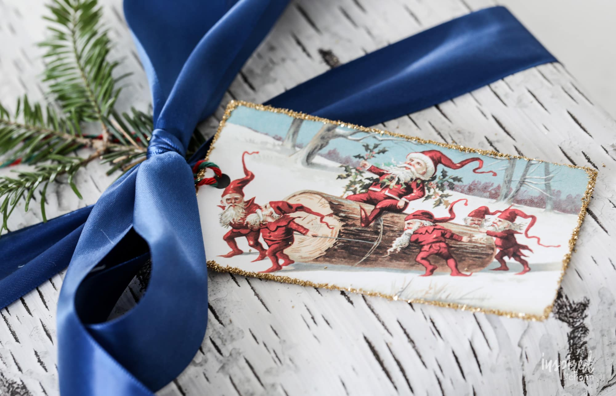 This is an image of Crazy Vintage Christmas Gift Labels