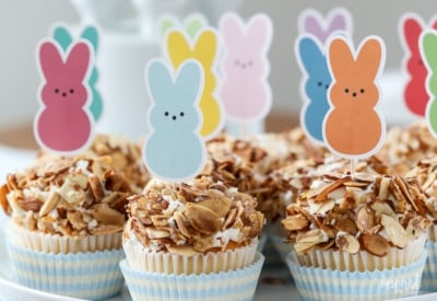Bunny Cupcake Picks with FREE Printable Dowload!